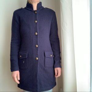 NWT Lauren Ralph Lauren Navy Bleu Wool Jacket Coat